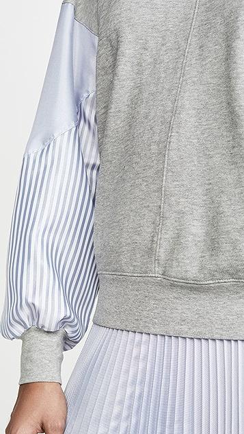 Clu 条纹蝙蝠袖套头衫