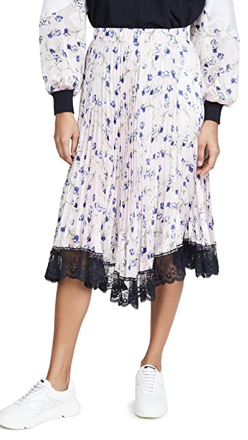 Clu Pleated Floral Skirt