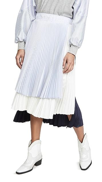 Clu Colorblock Pleated Skirt