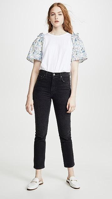 Clu 花卉印花衣袖上衣