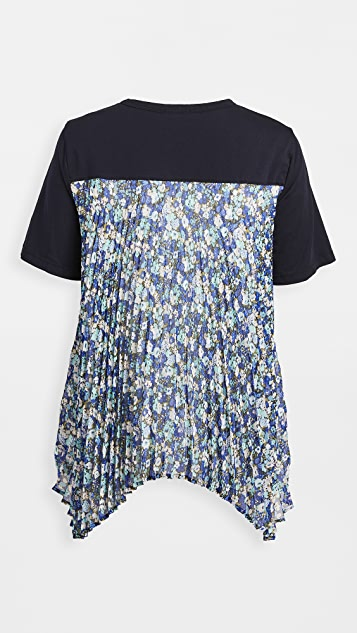 Clu Top With Floral Pleated Back