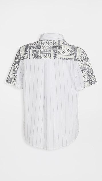 Clu 混合材质系扣女式衬衫