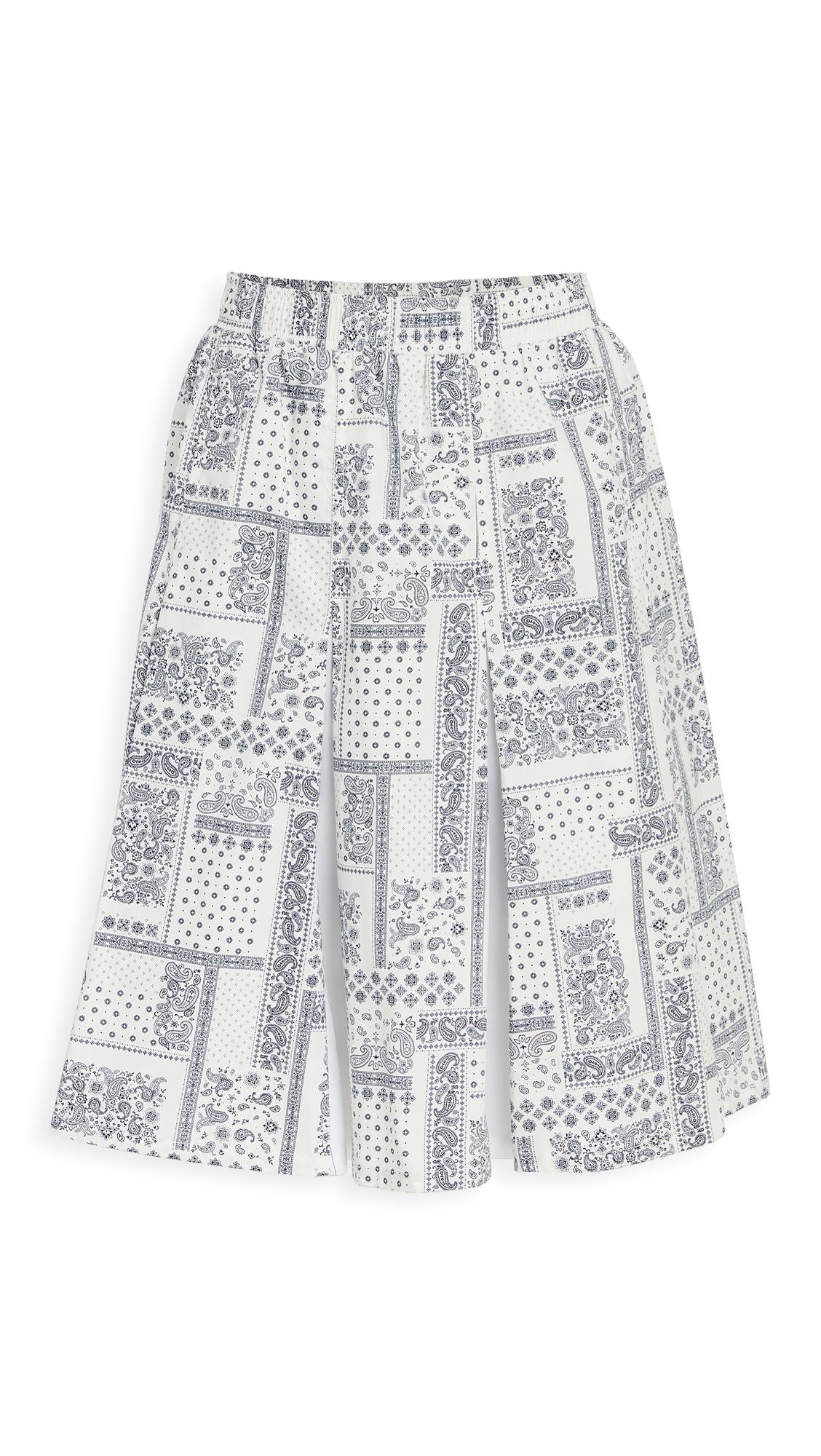 Clu Mix Media Paneled Skirt