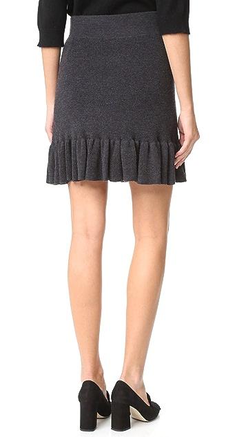Club Monaco Estie Ruffle Hem Sweater Skirt