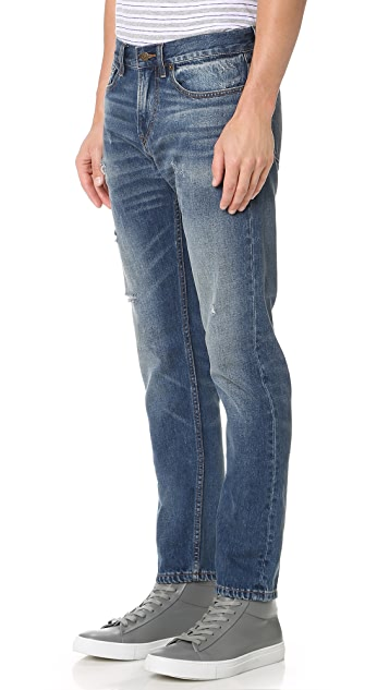 Club Monaco Distressed Slim Jeans