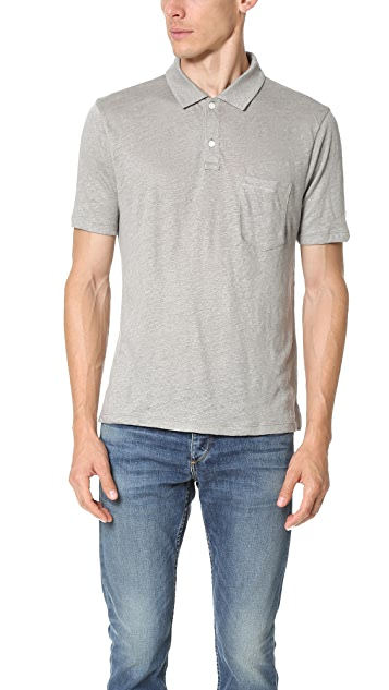 Club Monaco Linen Polo Shirt