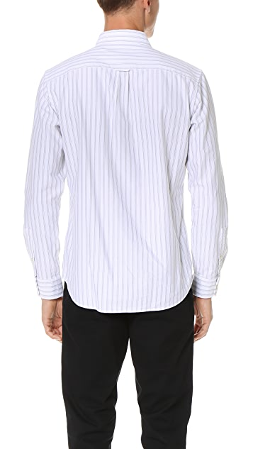 Club Monaco Striped Oxford Shirt