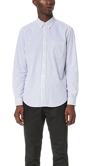 Club Monaco Striped Button Down Shirt