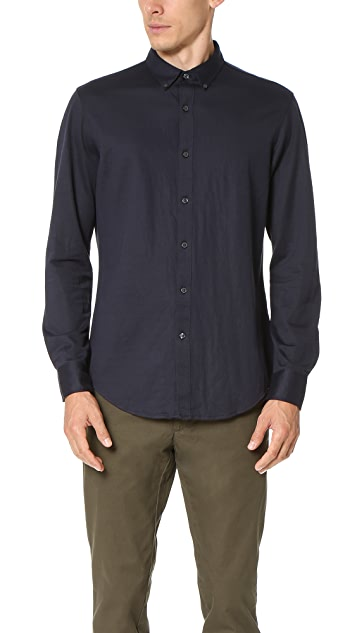 Club Monaco Long Sleeve Knit Shirt