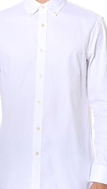 Club Monaco Slim Button Down Dress Oxford Shirt