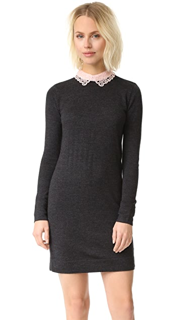 Club Monaco Lissah Lace Collar Sweater Dress