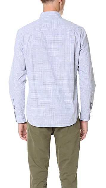 Club Monaco Slim Button Down Check Shirt