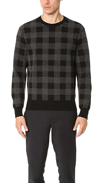 Club Monaco Buffalo Check Crew Sweater