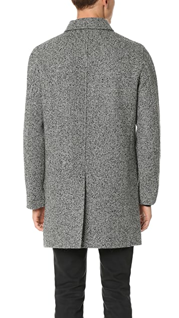 Club Monaco Tweed Car Coat