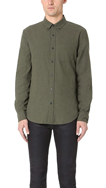 Club Monaco Slim Button Down Flannel Shirt