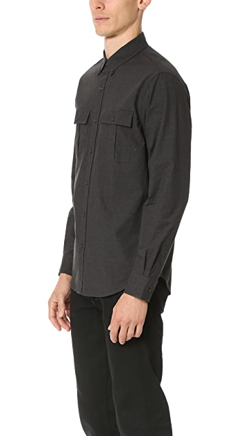 Club Monaco Slim Mini Collar Jaspe Shirt