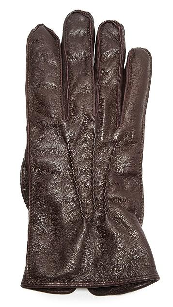 Club Monaco Washed Leather Gloves