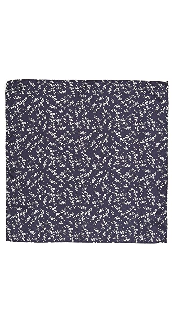 Club Monaco Johnny Print Pocket Square