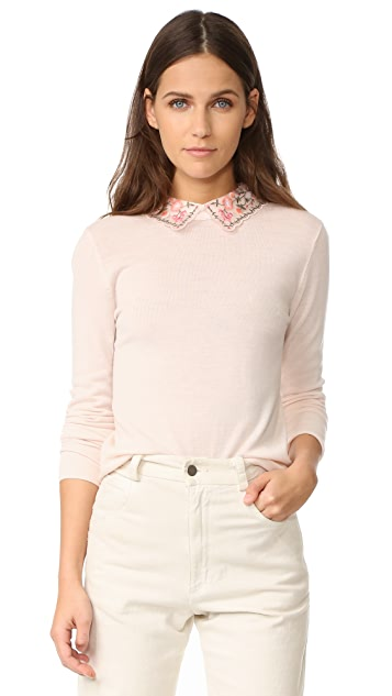 Club Monaco Kalani Collar Sweater