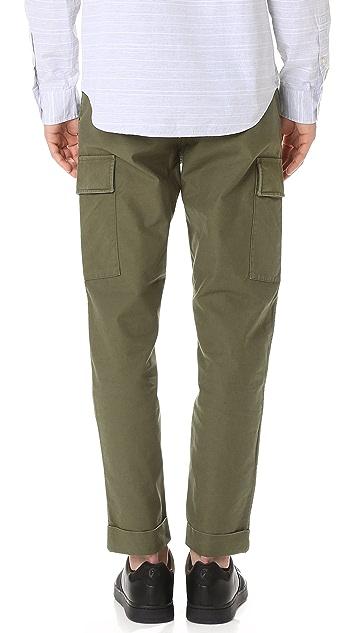 Club Monaco Tapered Military Trousers