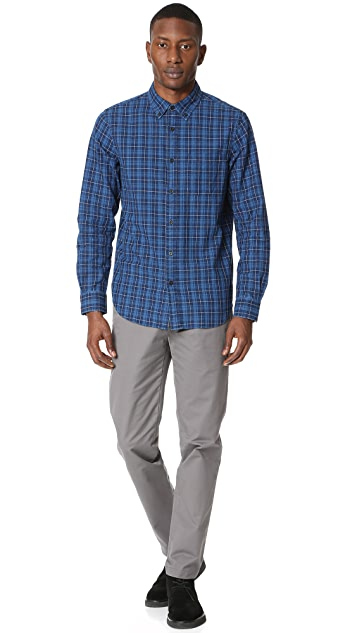 Club Monaco Indigo Plaid Shirt