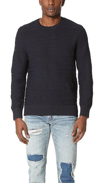 Club Monaco Solid Fair Isle Crew Sweater