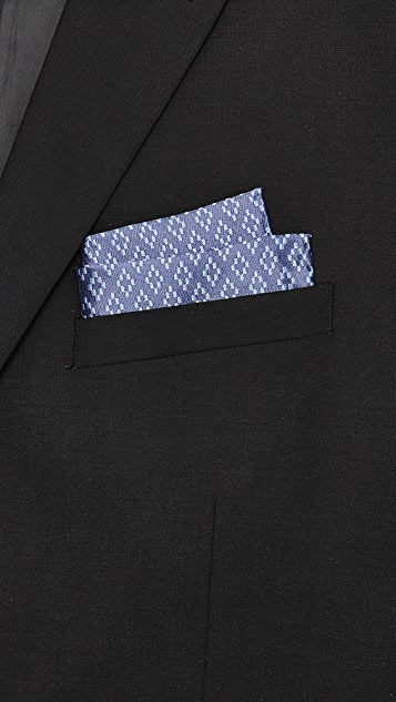 Club Monaco Diamond Weave Pocket Square