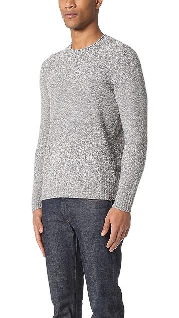 Club Monaco Cotton Boucle Roll Neck Sweater