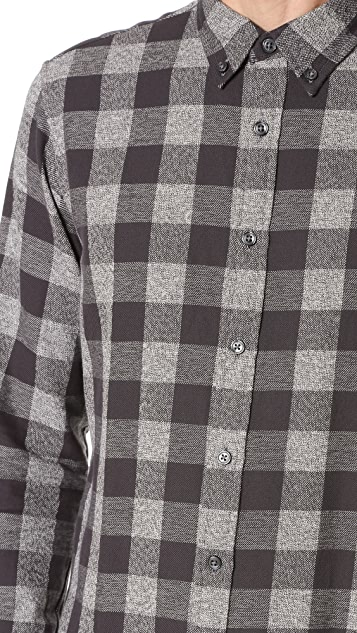 Club Monaco Slim Jaspe Check Shirt
