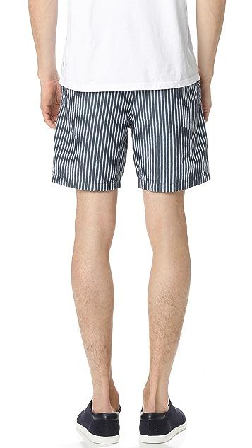 Club Monaco Striped Baxter Shorts