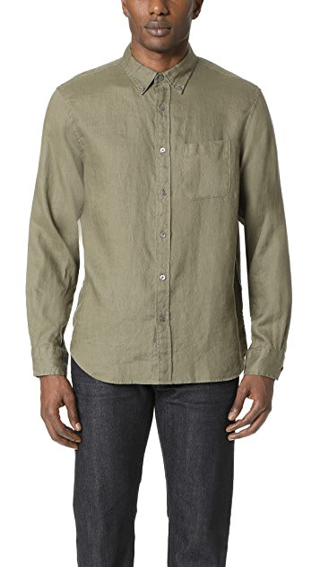 Club Monaco Linen Slim Shirt