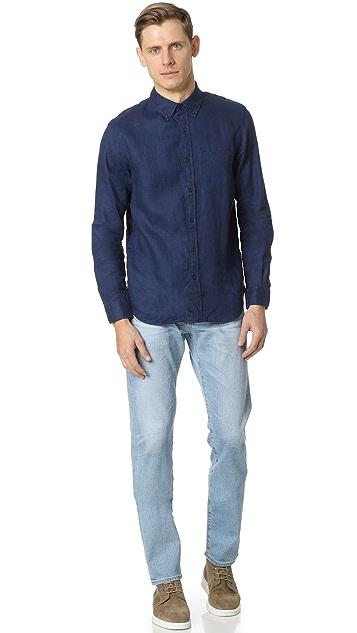 Club Monaco Linen Slim Shirt