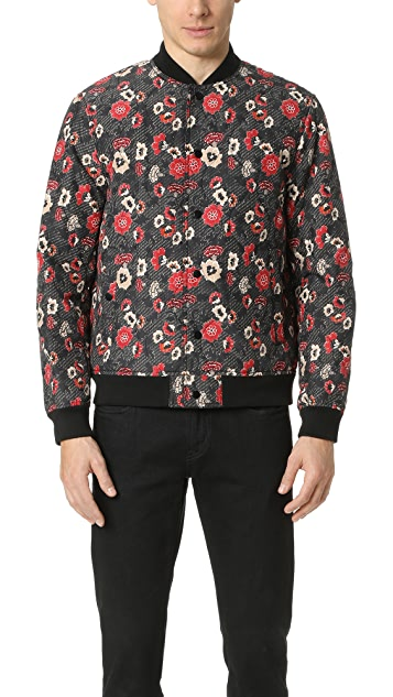 Club Monaco Printed Bomber Jacket