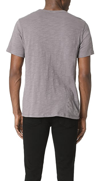Club Monaco Short Sleeve Slub Pocket Crew Neck Tee
