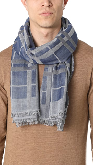 Club Monaco Gauze Plaid Scarf