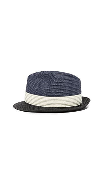 Club Monaco Colorblocked Fedora