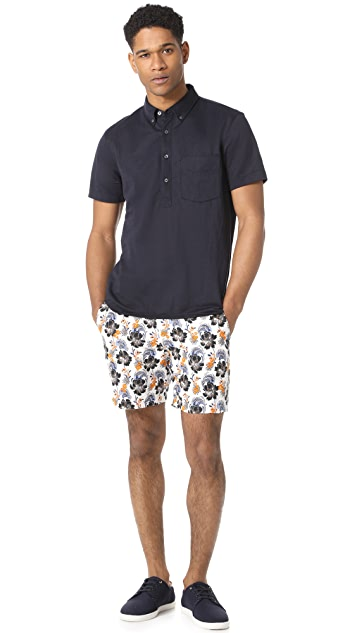 Club Monaco Muki Floral Embroidered Baxter Shorts