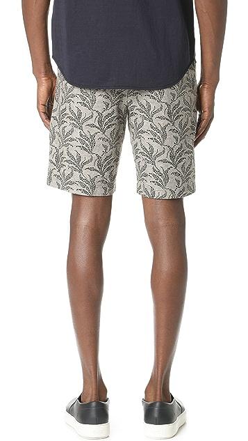 Club Monaco Maddox Geo Leaf Shorts