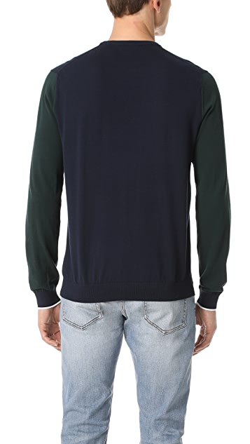 Club Monaco Colorblock Crew Sweater