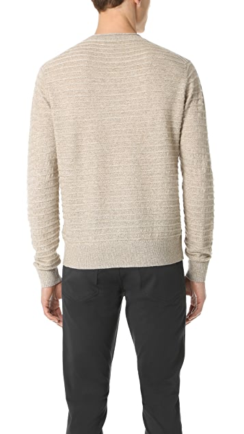 Club Monaco Rope Stripe Crew Sweater