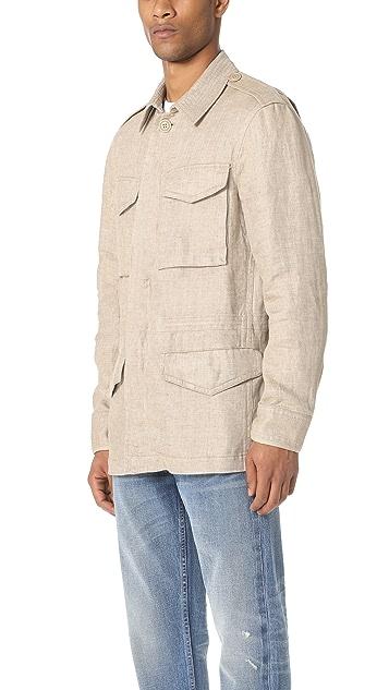 Club Monaco Linen Military Jacket
