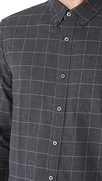 Club Monaco Brushed Windowpane Shirt
