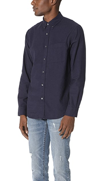 Club Monaco Brushed Solid Shirt
