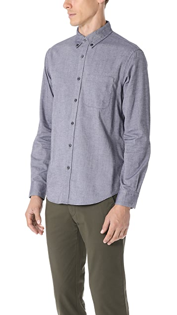 Club Monaco Brushed Twill Shirt