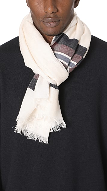 Club Monaco Horizontal Stripe Scarf