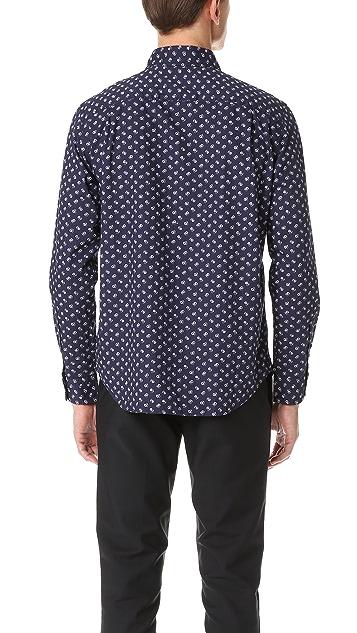 Club Monaco Slim Button Down Paisley Shirt