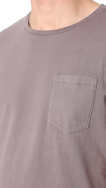 Club Monaco Williams Garment Dye Crew Neck Tee