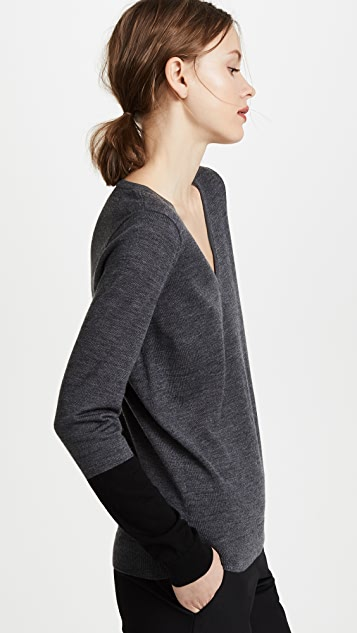 Club Monaco Agnes Cuff Block Sweater