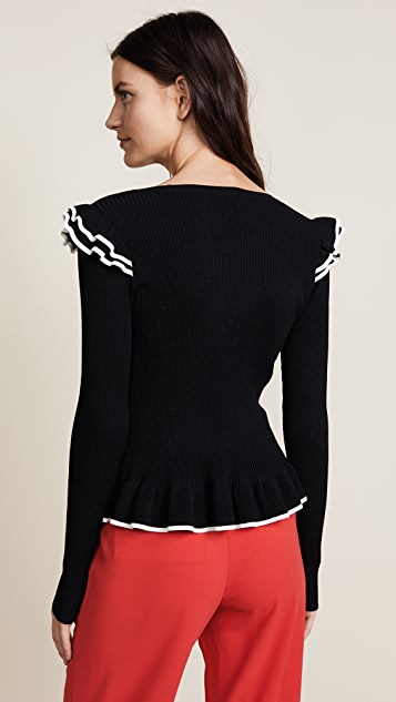 Club Monaco Karli Tipped Sweater