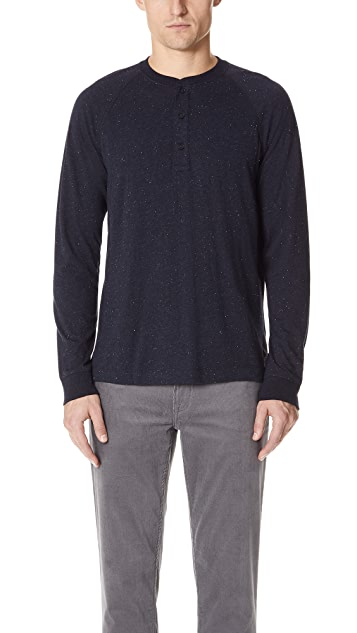 Club Monaco Long Sleeve Donegal Henley